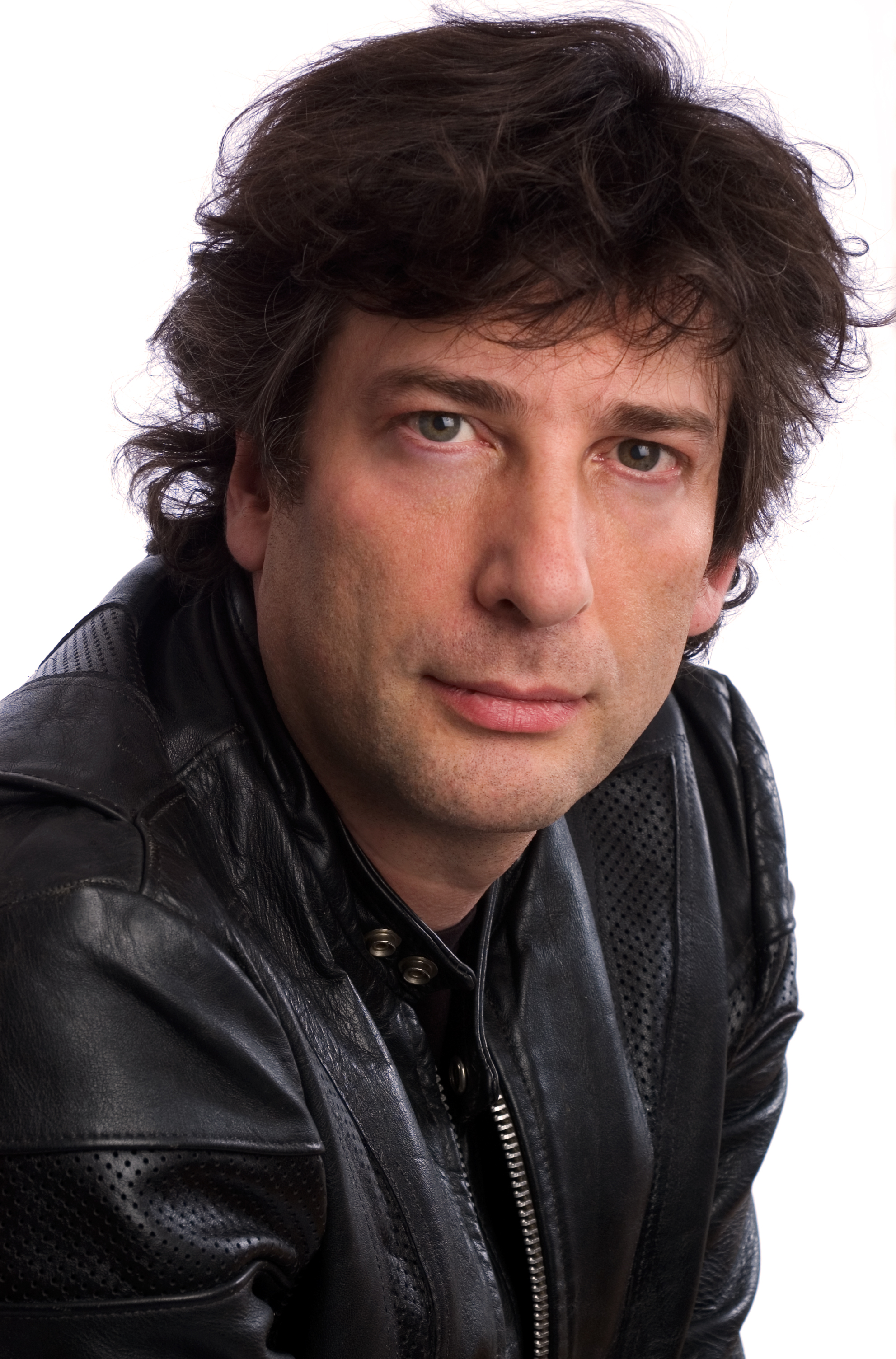 Portrait of author Neil Gaiman.